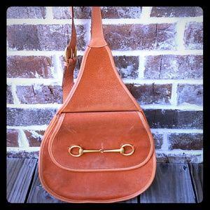 Original Vintage Gucci Horsebit Suede Shoulder bag